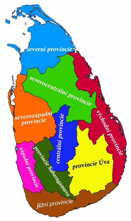 srilanka-provincie